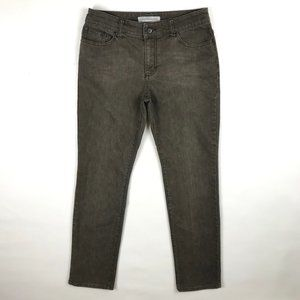 Chico's Ultimate Fit Slim Leg Denim Jeans Gray 6